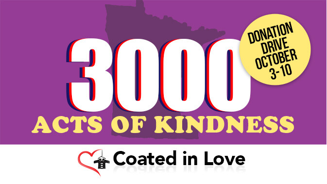 3000 Acts of Kindness Donation Drive